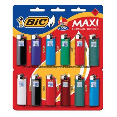 Isqueiro Bic Maxi - 12 Unidades 14866