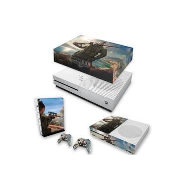 Capa Anti Poeira e Skin para Xbox One S Slim - Sniper Elite 4