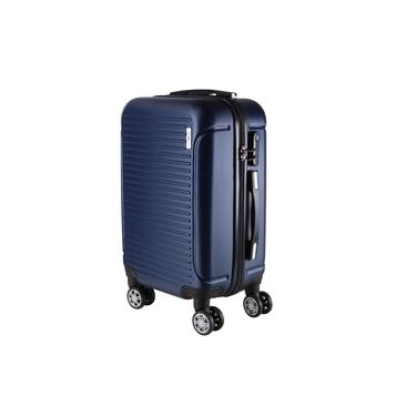 Mala de Bordo Pequena para Viagem em ABS Yins 21072 Rodinhas Duplas Cadeado Integrado TAM P - Azul
