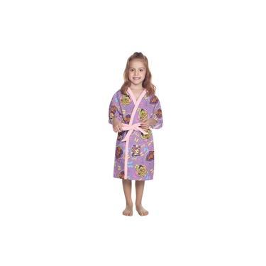Roupão Aveludado Estampado Barbie Reinos Mágicos P com 1 Peça - Lepper