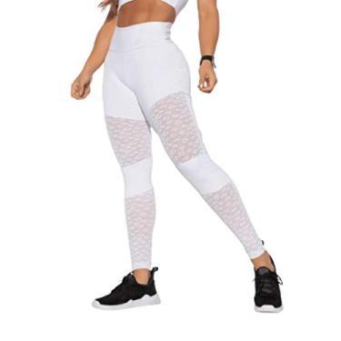 Imagem de Legging Fitness Branca Tule LG1320.1.GG Branco