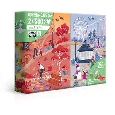 Imagem de Estações do Ano - Combo Quebra-cabeça - 500 peças, Toyster