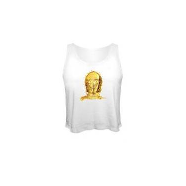Camiseta Cropped Star Wars C3po