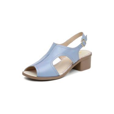 Sandalia Comfort Miuzzi Ref 2808 Azul Bebe  feminino