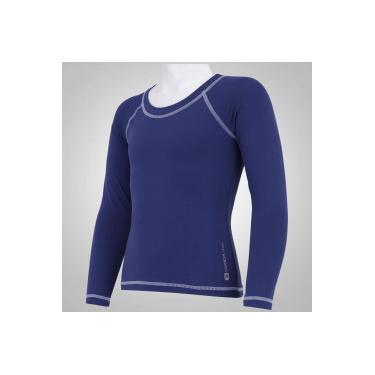 Camiseta Manga Longa com Proteção Solar UV50 Oxer - Infantil - AZUL ESCURO  Oxer 0a736eba2de51