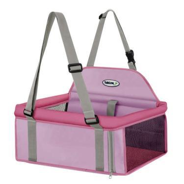 Assento Tubline Transpet Rosa para Cães e Gatos - até 15 Kg