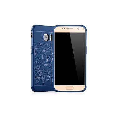 3d dragão padrão queda resistente à prova de choque capa de silicone para Samsung Galaxy S7