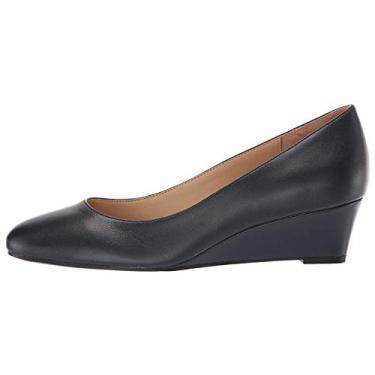 Naturalizer — Sapato feminino Pilar Wedges, Inky Navy, 7 Wide