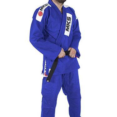 Kimono Jui Jitsu Mks Combat Azul A3