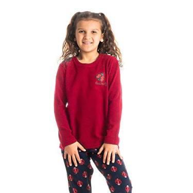 Pijama Infantil Longo Estampado Funny Vermelho/12