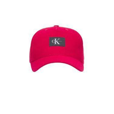 Boné masculino issue label - vermelho - calvin klein jeans 8435c9c41eb