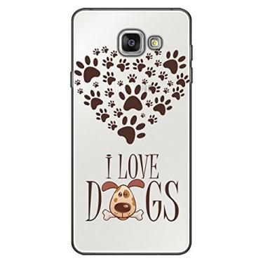 Capa Personalizada para Samsung Galaxy A5 2016 I Love Dogs - TP116