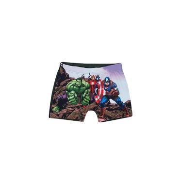 Sunga Boxer Infantil Verão Cinza Avengers Tip Top
