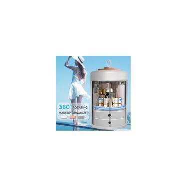 Imagem de Caixa de maquiagem giratória 360 ° para cosméticos organizador de joias gaveta para prateleira