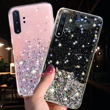 Glitter Caso Estrela Para Samsung Galaxy A70 A50 A30 A20 A10 A10S A20E A90 A6 A7 A8 A9 J4 J6 Plus