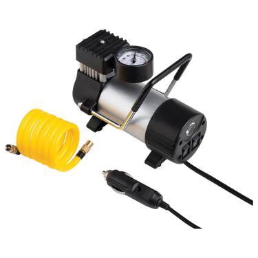 Compressor de ar automotivo 12v vazão 20l/min pressão de 100psi c/ 3 bicos - au616