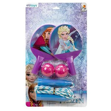 Kit Ping Pong para Pular Corda Frozen Etitoys Roxo/Rosa Escuro/Azul