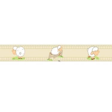 Faixa Papel De Parede Adesivo Infantil Ovelinhas 100x15cm - Lcg Eletro