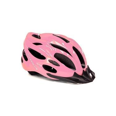 Imagem de Capacete Para Bike Adulto Feminino Tamanho M 54/58 cm C/ Led Traseiro e Viseira Absolute