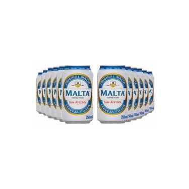 Cerveja sem álcool Pilsen - Malta - Lata 350ml - Nacional - 12 unidades