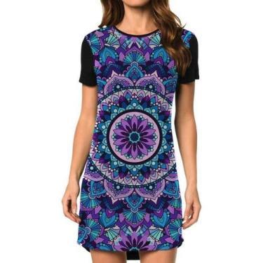 Vestido Feminino Mandala Purple Tamanho:GG