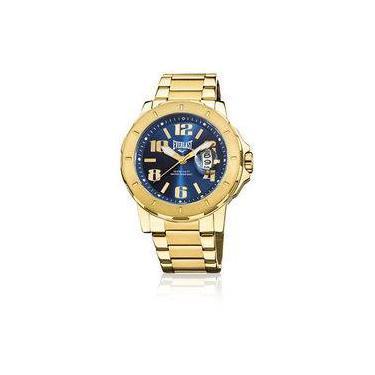 14c4ffdb510 Relógio Everlast Caixa E Pulseira Aço Dourado E645