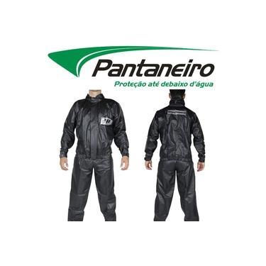 Conjunto Roupa Capa De Chuva Preta Pantaneiro Pvc Tornado Luxo Motoqueiro Moto Motoboy