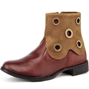 Bota Touro Boots Ankle Bootsholes Havana  feminino