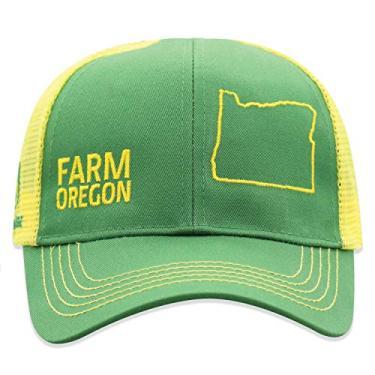 John Deere Boné infantil de malha com parte de trás do estado do orgulho da fazenda, Oregon, tamanho �nico