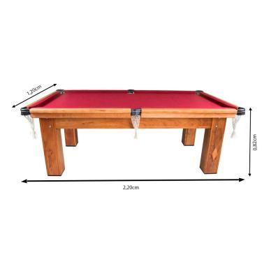 Mesa De Bilhar Snooker Procópio Cerejeira Ardósia 2,20X1,20M