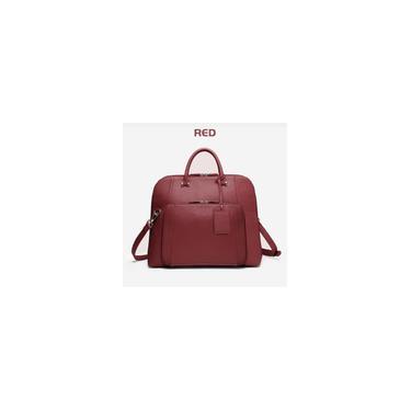 Imagem de Brenice bolsa para laptop com vários bolsos para senhora, pasta, bolsa feminina, bolsa grande, bolsa de design para escritório vinho vermelho