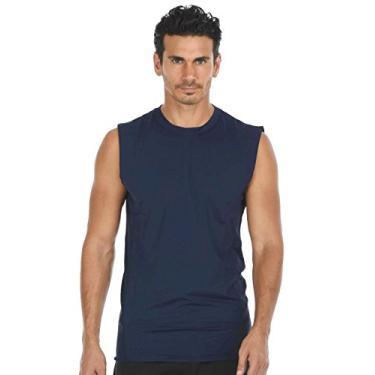 Imagem de Camisa masculina leve de compressão com tecido de carvão 2018, Azul marinho, G