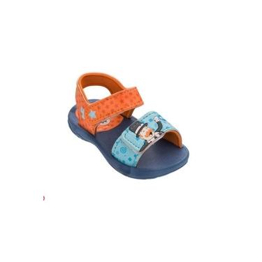 Sandália Grendene Infantil Mundo Bita Azul/Laranja 22173