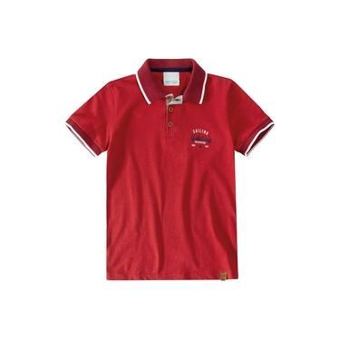 Camisa Masculina Tradicional Malwee em Malha Vermelha