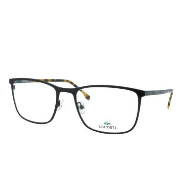 95ec1bcf0acf0 Óculos de Grau Lacoste Unissex L2247 001 - Metal Preto e Haste Tartaruga  Marrom