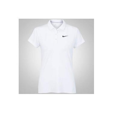 Camisa Polo Nike Court Pure - Feminina - BRANCO PRETO Nike eadcdf2101171