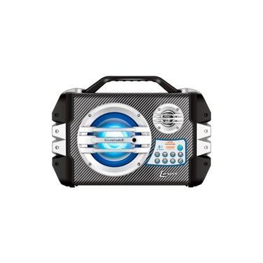 Caixa Portátil Multiuso Lenoxx CA305 100W RMS - Acompanha Microfone / Bluetooth / Bateria Interna 12V / Rádio FM / USB e SD / Aux P2