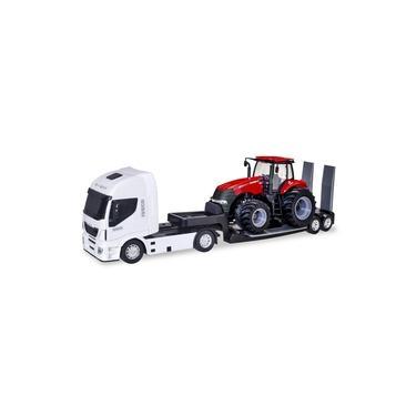 Imagem de Caminhão Iveco Plataforma Com Trator Case - Usual Brinquedos