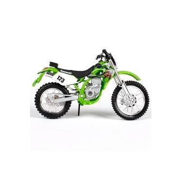 Imagem de Moto Miniatura Kawasaki Klx-250sr Verde 1:18 Maisto