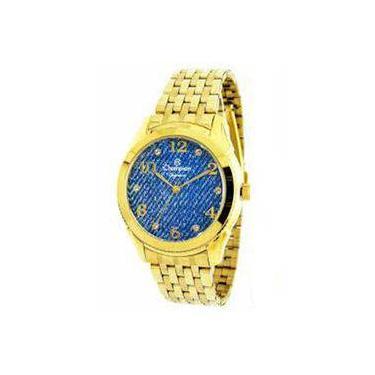 efd478780a2 Relógio Feminino Champion Dourado - Cn26984a