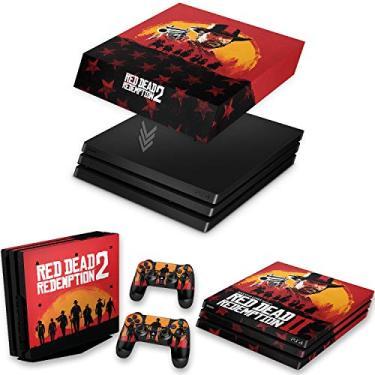 Capa Anti Poeira e Skin para PS4 Pro - Red Dead Redemption 2