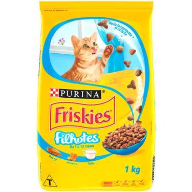 Ração Seca Nestlé Purina Friskies Frango, Cenoura e Leite para Gatos Filhotes - 1 Kg