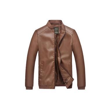 2XL Casaco jaqueta Impermeável Masculino Blazer Couro Slim Parka