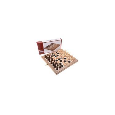 Madeira Set Xadrez Damas Gamão 3 em 1 Travel International Jogo de xadrez de madeira xadrez dobrável Tabuleiro de xadrez