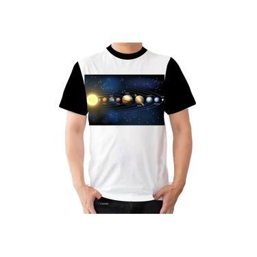 Camisa Camiseta Sistema Solar Planetas Marte Terra Sol