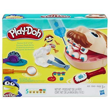Imagem de Brinquedo Conjunto Massinha Play-Doh Dentista Clássico - Com 5 potes de massinha - B5520 - Hasbro