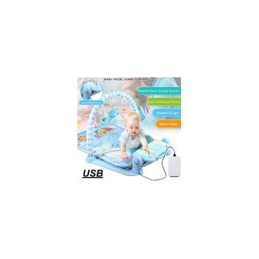 Imagem de 3-em-1 Bebê Infantil Ginásio Jogar Mat Fitness Carpet Music Fun Piano Pedal Brinquedos Educativos