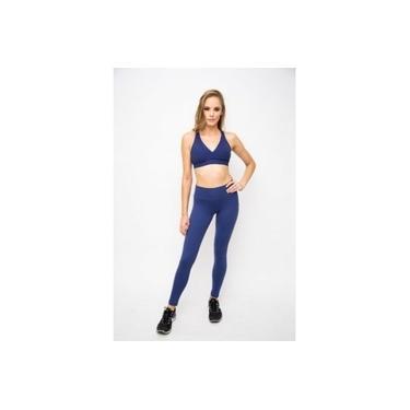 Imagem de Legging com bolso lateral com compreensão muscular Azul