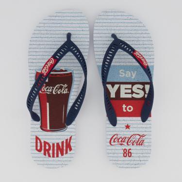 Chinelo Coca Cola Yes Branco e Marinho - 41-42