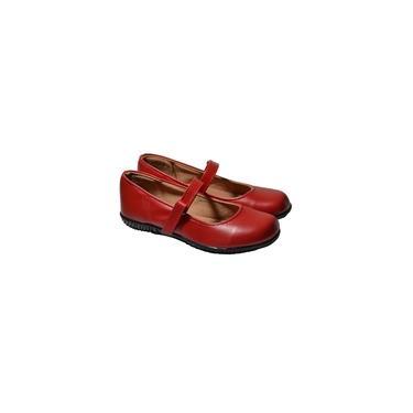 Sapatilha Feminina Boneca Confortável Salto Baixo Vermelho Beatriz Castro